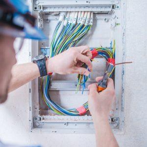 Caucasian Electric Technician
